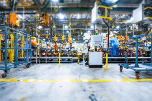 элементы заводского оборудования, производственные линии